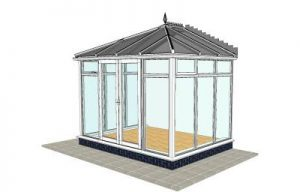 Edwardian Conservatory with floor to ceiling glass