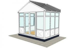 Pavillion conservatory with infill panels