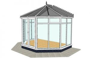 Victorian conservatory with floor to ceiling glass