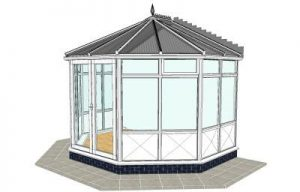 Victorian conservatory with infill panels